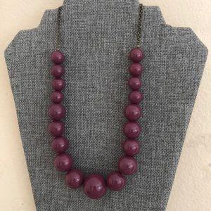 Large Purple Beaded Necklace
